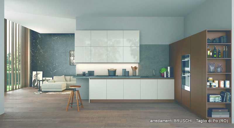 Cucina moderna abyss arredamenti bruschi for Bruschi arredamenti