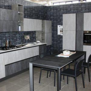 Cucina Classica Modello 850 ante calce e cemento 1
