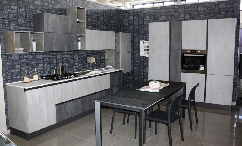Cucina classica modello 850 ante calce e cemento for Bruschi arredamenti