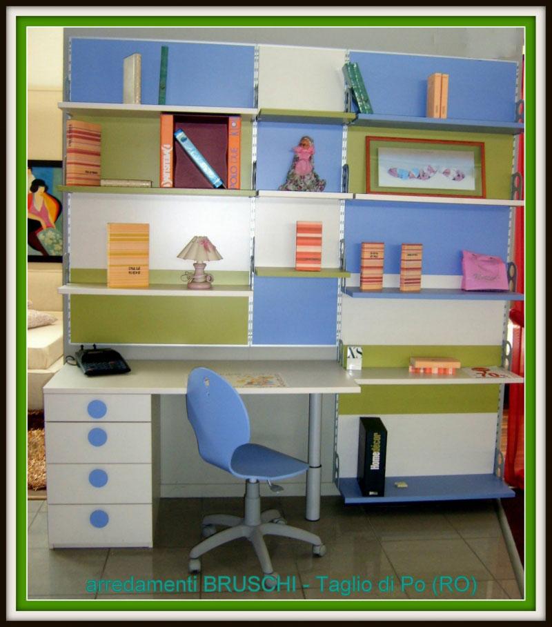 Outlet libreria con scrittoio arredamenti bruschi for Bruschi arredamenti