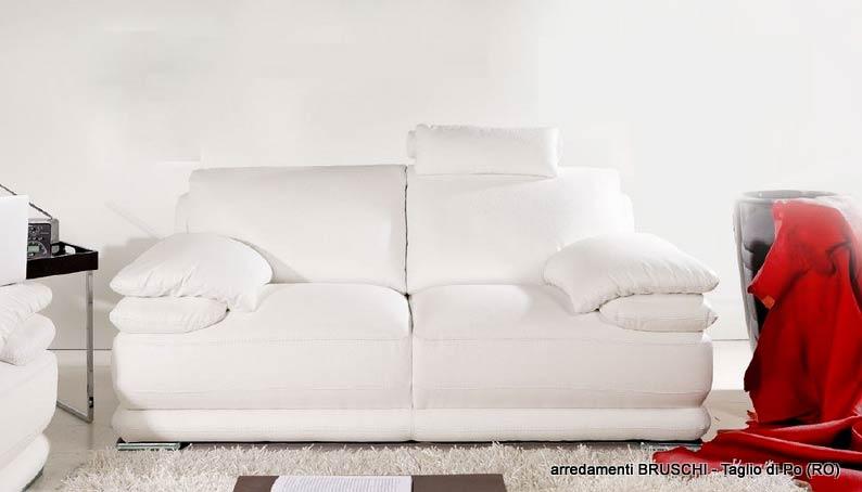 Salotto moderno atlantic divano bianco arredamenti bruschi for Bruschi arredamenti