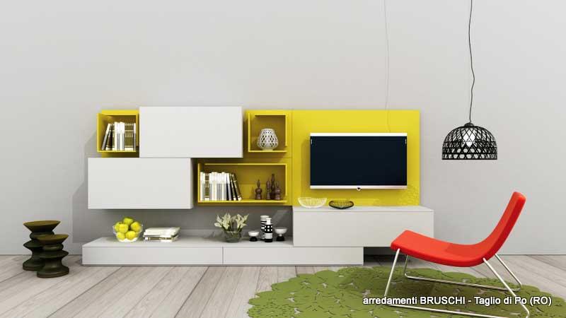 Composizione soggiorno moderno replay arredamenti bruschi for Bruschi arredamenti
